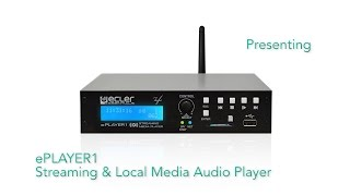 Download Ecler ePLAYER1 Streaming & Local Media Audio Player - Overview Video