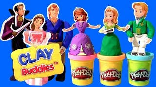 Download Play Doh Sofia the First Clay Buddies Royal Family Activity Princess Amber & Prince James Dough set Video