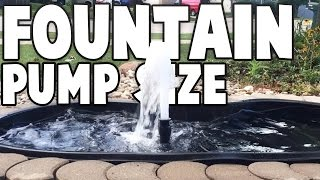 Download FOUNTAIN PUMP SIZE MATTERS Video