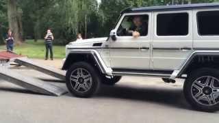 Download Mercedes-Benz G500 4x4² V8 Brutal Exhaust Sound 2015 PRESENTATION Video