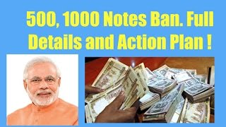 Download Narendra Modi | 500, 1000 rupee notes banned from 8th November | Full Details and Action Plan Video