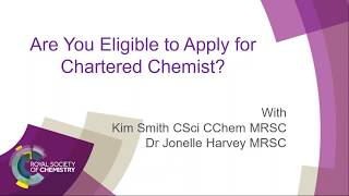 Download How to apply for the award of Chartered Chemist (CChem) Video