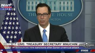 Download FNN: Treasury Secretary Steven Mnuchin Announces Sanctions After Syria Chemical Attack Video