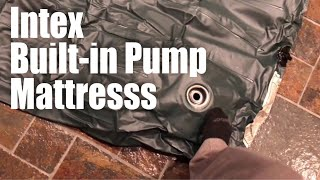 Download Intex Downy Twin-sized Airbed Inflatable Mattress with Built-in Foot Pump review Video