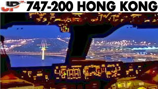 Download Fantastic 747 Dawn Approach into Hong Kong! Video
