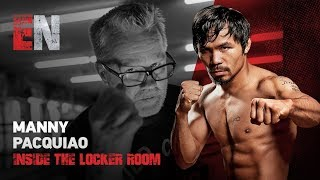 Download Manny Pacquiao In his locker room seconds before Thurman fight looks impressive Video