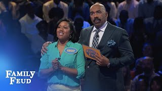 Download KRISSY and REBECCA get it DUNN! | Family Feud Video