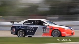 Download Differences between a race car and a street car - Acura TSX on the track Video