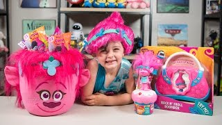 Download HUGE Trolls Movie Poppy Surprise Bucket Blind Bags Surprise Eggs Toys for Girls Kinder Playtime Video