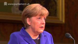 Download German Chancellor, Angela Merkel, addresses Parliament Video