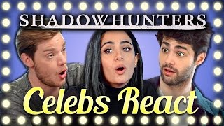Download CELEBS REACT TO TRY TO WATCH THIS WITHOUT LAUGHING OR GRINNING (Shadowhunters Cast) Video