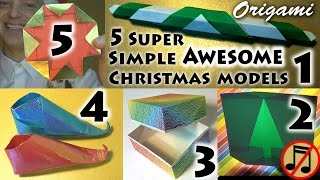 Download 5 Super Simple AWESOME Christmas Models! (no music) Video