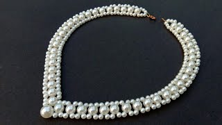 Download How To Make// A Pearl Necklace// At Home//DIY Pearl Necklace// Useful & Easy Video