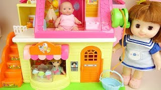 Download Ice cream shop baby doll friends play house Video
