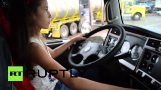 Download Colombia: This 12-year-old girl is LOCO for lorries Video