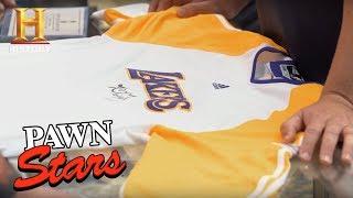 Download Pawn Stars: Kobe Bryant 2010 NBA Finals Warm-Up Jersey (Season 14) | History Video