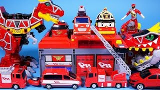 Download Fire station cars & Robocar Poli Tayo car key toys + more - ToyPudding 월드카 파워키 Video