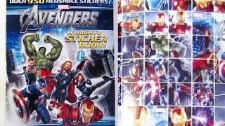 Download Avengers Sticker Book - 950 Reusable Stickers Hulk, Thor, Captain America, Hawkeye, Iron Man Video