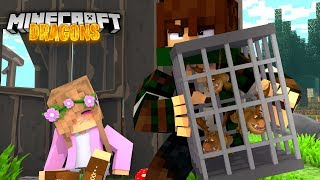 Download SAVING THE BABY DRAGONS FROM HUNTERS   Minecraft DRAGONS w/ Little Kelly Video