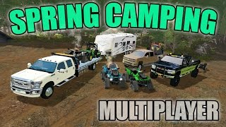 Download SPRING CAMPING | JOHN DEERE GATOR + CAN-AM ATV AND MORE | MULTIPLAYER Video