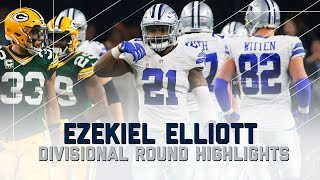 Download Ezekiel Elliott's Incredible Playoff Debut | Packers vs. Cowboys | NFL Divisional Player Highlights Video