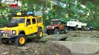 Download 13 RC Trucks scale offroad 4x4 Adventures RC4WD Timberwolf D110 M923 Jeep Wrangler honcho dingo Video