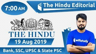 Download 7:00 AM - The Hindu Editorial Analysis by Vishal Sir | 19 Aug 2019 | Bank, SSC, UPSC & State PSC Video
