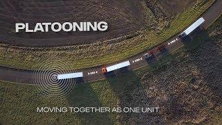 Download Semi-autonomous truck platooning — how does it work? Video