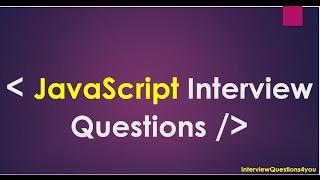 Download javascript interview questions | javascript programming questions Video