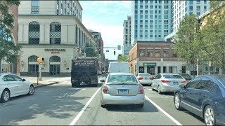 Download Driving Downtown - Stamford 4K - Connecticut USA Video
