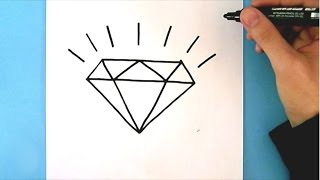 Download HOW TO DRAW A DIAMOND STEP BY STEP : EASY DRAWING TUTORIAL Video
