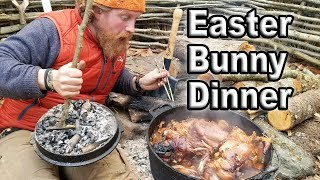Download Easter Bunny Rabbit Catch and Cook In A Dutch Oven (87 Days ep. 26) Video
