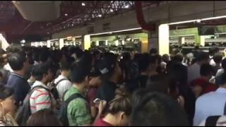 Download Crowd at Jurong East station due to delay on NSL Video