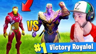 Download IRON MAN vs THANOS - WHO WINS...? (Fortnite: Battle Royale CHALLENGE) Video
