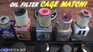 Download OIl Filter Comparison...STP vs FRAM vs BOSCH vs MOBIL1 Video