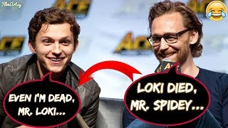 Download Tom Holland and Tom Hiddleston Makes Fun of Each Other - Avengers: Infinity War 2018 Video