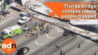 Download Florida bridge collapse leaves people trapped Video