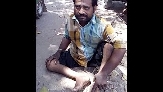 Download This handicapped man can barely crawl, yet still drives rickshaws to survive... Video