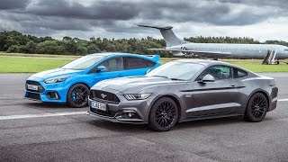 Download Ford Mustang vs Ford Focus RS - Top Gear: Drag Races Video