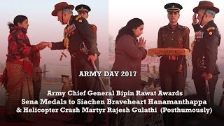 Download Army Chief Reviews 69th Army Day Parade and Awards 15 Sena Medals (5 Posthumous) to Bravehearts Video