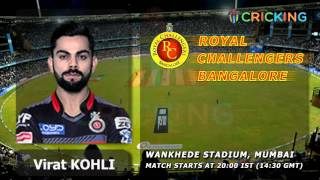 Download Playing XI of Mumbai Indians vs Royal Challengers Bangalore Video