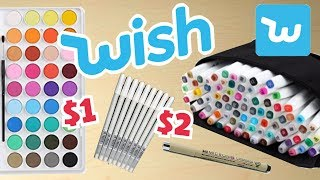 Download CHEAP vs EXPENSIVE ART SUPPLIES || Wish Haul! Video