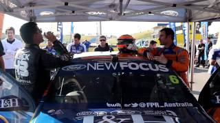 Download Ken Block swaps seats with V8 Supercar drivers Mark Winterbottom and Will Davison Video