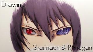 Download Drawing Sasuke's Sharingan & Rinnegan Eyes - Naruto Shippuden Video