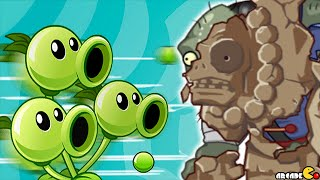 Download Plants Vs Zombies 2: BOSS Mode Three Peashooter With Sunflower Singer! (PVZ 2 Chinese Version) Video