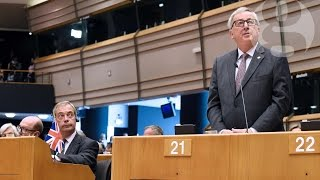Download Jean-Claude Juncker to Nigel Farage: 'Why are you here?' Video