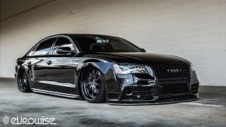 Download Air-ride equipped Audi A8L on AG Wheels built by Eurowise (Charlotte, NC) Video