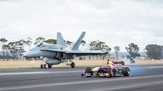 Download F1 Car vs F/A-18 Hornet (Red Bull's Daniel Ricciardo Feels The Force) Video