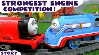Download Thomas and Friends Strongest Engine on Great Race Track with Disney Cars Toys McQueen & Peppa Pig Video