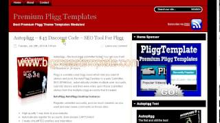 Download Pligg template free download one tricks Video